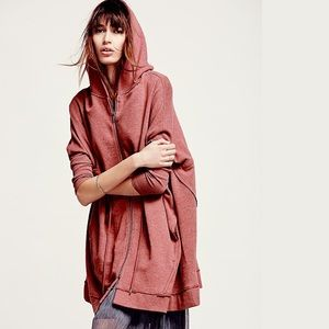 Free People | 🍉 Oversized Zip Hoodie